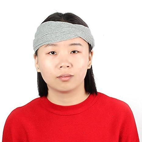 eDealMax Tela que se ejecuta Yoga Deportes Headwear elástico torcedura anudada Hairband Venda del Abrigo