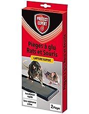 Protect Expert Rapsouglu2 ratten & muizen, 2 kleefvallen ter identificatie van knaagdieren, kleurloos