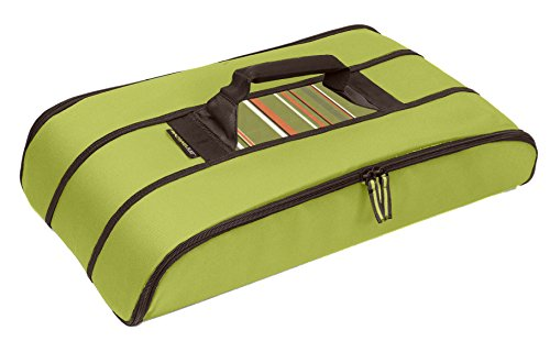 Rachael Ray Stowaway Potlucker, Holds Larger Casseroles / Baking Dishes Up To 10 X 15 Inches, Green by Rachael Ray