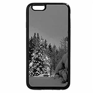 iPhone 6S Case, iPhone 6 Case (Black & White) - Nature's Christmas