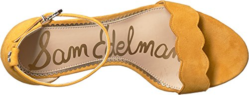 Sandal Heeled Odila Edelman Sam Kid Women's Sunglow Yellow Leather Suede 7wqnBvI