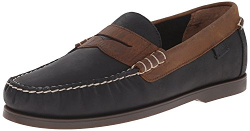 Polo Ralph Lauren Men's Bjorn Penny Loafer, Black/Tan, 9.5 D US