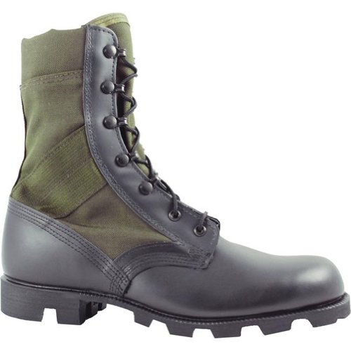 Mcrae Hw Jungle Boot In Od E Nero Con Suola Panama (7.5w)