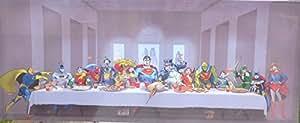 MARVEL superhéroes en la parte en la última cena lienzo decorativo