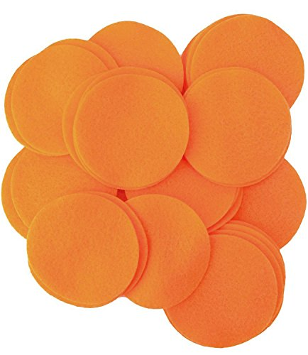 Playfully Ever After 2 Inch Orange 44pc Felt Circles