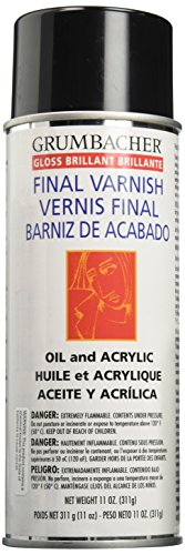 Acrylic Paint Varnish - Grumbacher Picture Gloss Varnish for Picture and Oil & Acrylic Painting, 11 oz. Can