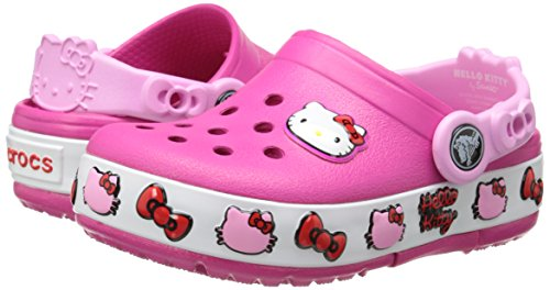 fcb5f34d6d14ed crocs Girls  CrocsLights Hello Kitty Light-Up Clog - Light-Up Shoes