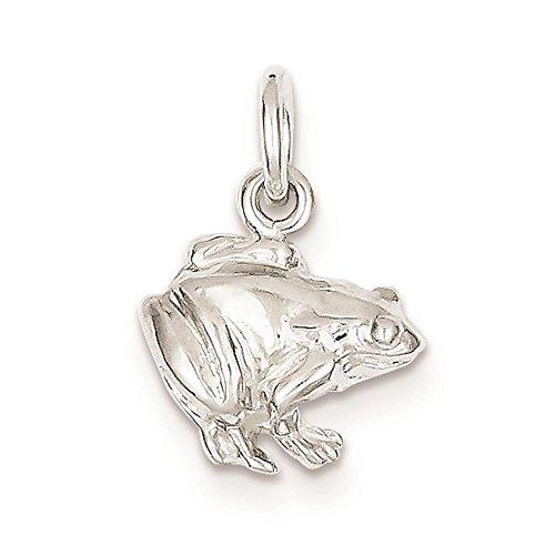 Sterling Silver 3d Frog - 4
