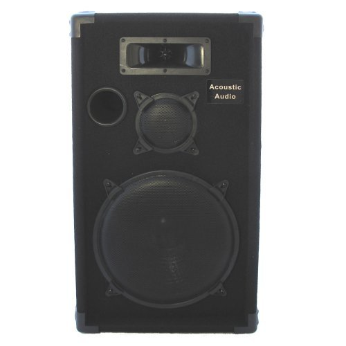 Acoustic Audio CR12 PA Karaoke DJ 12'' Speaker 500W 3 Way by Acoustic Audio by Goldwood