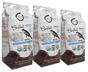 BuyWell Blackbird Decaf Blend, 100% Fair Trade, Organic 12-Ounce Bags (Pack of 3) WHOLE BEAN