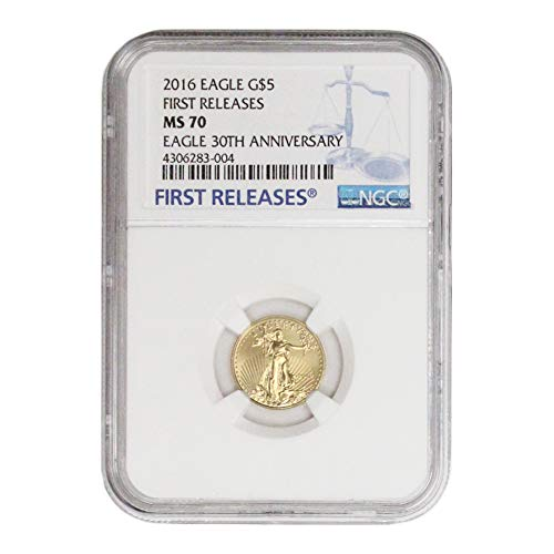 2016 American Gold Eagle $5 MS70 NGC Early Releases Label 30th Ann. ()