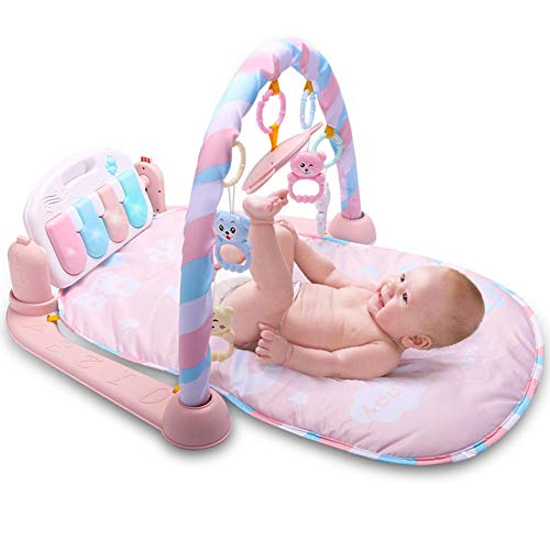 PROKTH Kick and Play Piano Gym, New-Born Baby Play Mat with Activity Centre, Baby Playmats & Floor Gyms,Music and Sounds New-Borns ()