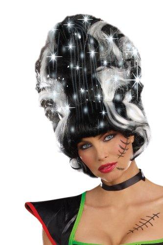 Dreamgirl Frankie Wig, Black/White, One Size