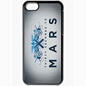 Personalized iPhone 5C Cell phone Case/Cover Skin 30 seconds to mars jared leto music Black