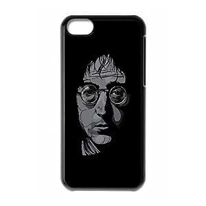 iPhone 5c Cell Phone Case Black hd51 john lennon illust art music OJ643159