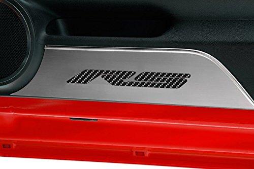 American Car Craft Chevrolet Camaro 2010 2011 2012 RS Brushed Black Carbon Fiber Door Panel Kick Plates -