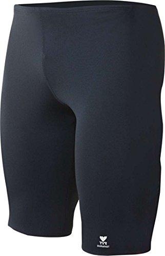 TYR Boy's Durafast Elite Solid Jammer Swim Suit (Black, - Swimwear Elite