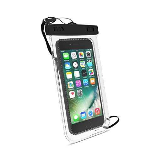Universal Waterproof Phone Case, Waterproof Phone Pouch Dry Bag with Neck Strap for iPhone X/8 Plus/8/7/6S Plus, Samsung Galaxy S9+ / S9