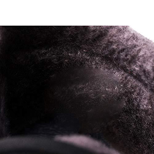 Mezza Mezza Mezza Caldo Velluto Velluto Velluto di Spessore Inverno Cotone Uomini età Plus Casual Scarpe Stivali Brown Antiscivolo Stivali Stivali Padre di 42 Black di Neve da Cotone z5Ivwqtv