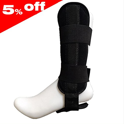 Rigid Ankle Brace Ankle Support Stabilizer Can Wear on Shoes with Ergonomic Splint for Sprains Arthritis Pain Dislocation Fracture Severe Injury Relief - Medical Orthopedic (Rigid Brace)