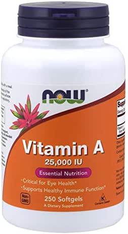 NOW Supplements, Vitamin A (Fish Liver Oil), 250 Softgels