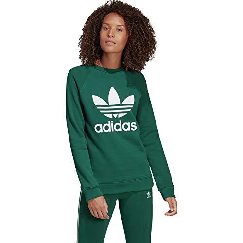 adidas Originals Women's Trefoil Crew Sweatshirt, Collegiate Green Small