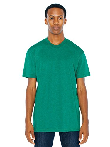 American Apparel Men 50/50 Crewneck T-Shirt Size L Heather Vintage Green