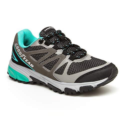 Goodyear Women's Hiking Boots; Low Top Women's Hiking Shoes Grey/Aqua