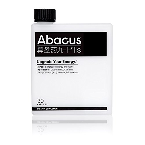 Abacus Energy Pills – Upgrade Your Energy (30ct) – Energy Nootropic for Increased Focus with Vitamin B-12 (as Methylcobalamin), Caffeine, Ginkgo Biloba (Leaf) Extract, and L-Theanine