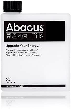 Abacus® Energy Pills – Upgrade Your Energy™ (30ct) - Energy Nootropic for Increased Focus with Vitamin B-12 (as Methylcobalamin), Caffeine, Ginkgo Biloba (Leaf) Extract, and L-Theanine