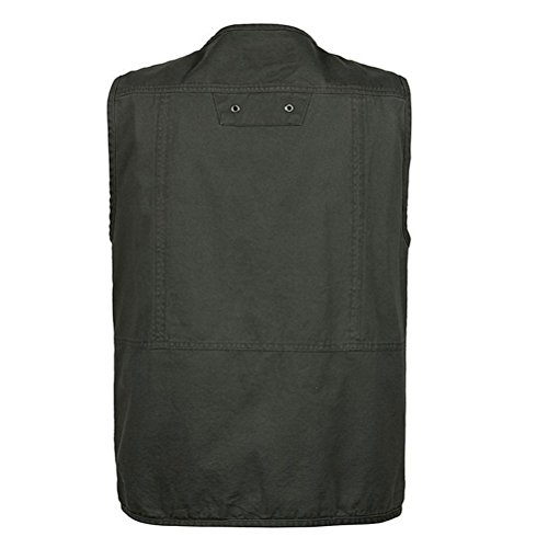 Zipper Vest 5XL Zhhlaixing Photography Multi XL Outdoor Traveling Hombre Ropa Sportswear Dark Fishing deportiva Camping Green Chalecos Mens pocketed Size gOqg8