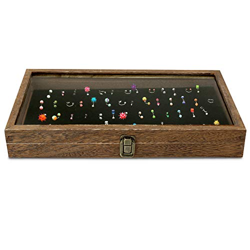 Mooca Wooden Belly Rings Case, Jewelry Box