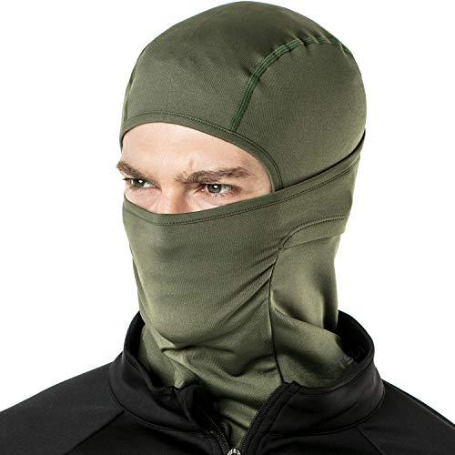 TSLA Winter Balaclava Mask Face Cover Thermal Fleece Helmet Liner Unisex, Thermal Balaclava(yzb03) - Army Green, -