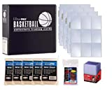 Ultra Pro 3'' Basketball Card Collector Starter Kit – Black Album, 9 Pocket Pages, Sleeves, Top Loaders & Mini Snap Holders