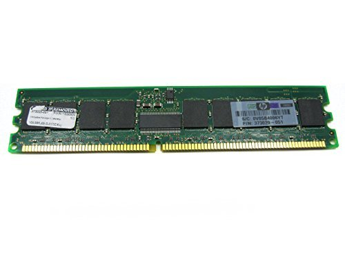 HP/Compaq 373029-051 1GB (1X1GB)400MHz PC-3200 CL3 ECC DDR SDRAM DIMM Genuine HP Memory for Proliant Server DL145 G2 BL45P BL25P BL35P DL385 DL585 Workstation XW9300, New Item