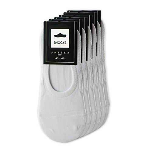 Sneaker-Socken, Füsslinge, Sportsocken, Footies, Sneaker-Socks - (Farbe Schwarz & Weiß), Herren & Damen (6 Paar) Größe 35-46 für Sneaker und Turnschuhe in bester Qualität von SNOCKS