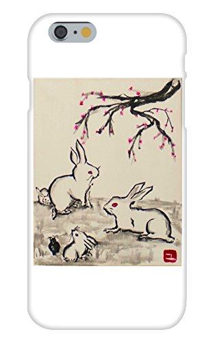 Obama Phone Costume (Rabbits and a Cherry Blossum Tree Mural Yuya Negishi YUYART - Apple iPhone 6 Custom Case White Plastic Snap On)