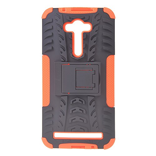 Asus Zenfone 2 Laser ZE550KL (5.5 inches) Funda,COOLKE Duro resistente Choque Heavy Duty Case Hybrid Outdoor Cover case Bumper Para Asus Zenfone 2 Laser ZE550KL (5.5 inches) - azul naranja
