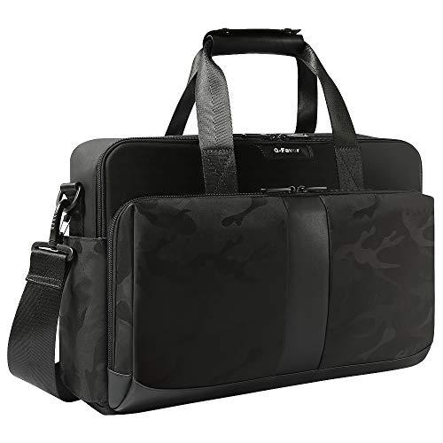 (Laptop Bag 15.6 17.3 Inch, Business Briefcase for Men Women, Water Resistant Messenger Shoulder Bag with Strap, Carrying Case Computer Notebook Bag-G-FAVOR, Black )