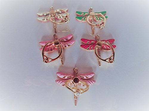 Beautiful Dragon fly Phone Ring Holder (red) -