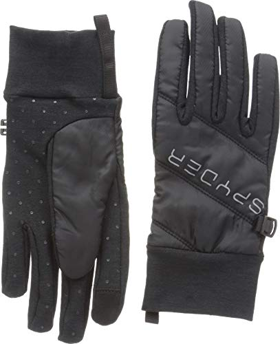 Spyder Women's Solitude Hybrid Glove, Black/Black/Black, Small