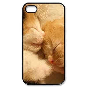 J-LV-F Customized Print Lovely Cat Pattern Back Case for iPhone 4/4S