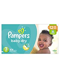 Pampers Baby Dry Diapers Size 3, Super Pack, 104 Count (Packaging May Vary) BOBEBE Online Baby Store From New York to Miami and Los Angeles