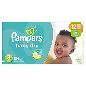 Amazon.com: Pampers Baby Dry Diapers Size 3, Super Pack ...