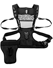 Fomito Multi Double Camera Dual Carrying Photographer Vest with Side Holster for Canon Nikon DSLR MICNOVA MQ-MSP01 MP1000
