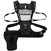 Fomito Micnova Multi Camera Carrying Chest Harness System Vest with Side Holster for Canon 6D 600D 5D2 5D3 Nikon D800 D600 D300 D7000 D90 Sony A7S A7R A7S2 Panasonic Olympus DSLR
