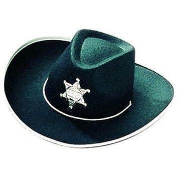Party Discount Sombrero Cowboy Negro con Estrella para Niños Precio Hit   Amazon.es  Juguetes y juegos 113d36efe62