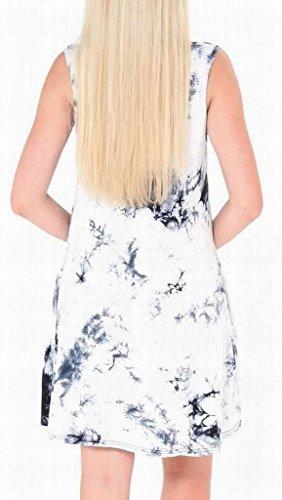 Donne 1 Domple Con Tie dyed Senza Stampa Tasche Prendisole Elegante Maniche Con PPqrp
