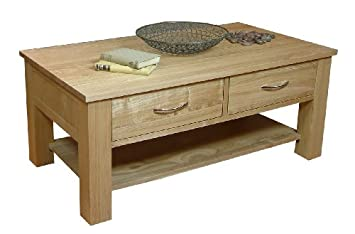 baumhaus mobel oak four drawer coffee table baumhaus mobel oak drawer