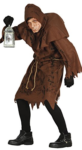 Men's Male Quasimodo Fancy Dress Costume one size brown Adults Robe Halloween